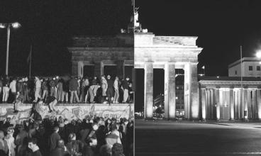 Muro de Berlim - antes e depois